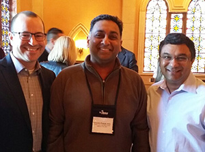Dr. Chandra Prasad visits with SkinMedica scientists Rahul Mehta, Ph. D. and Scott Petersen, Ph. D.